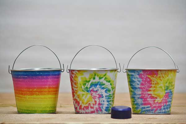 Tie Dye Party Favor Beach Pail