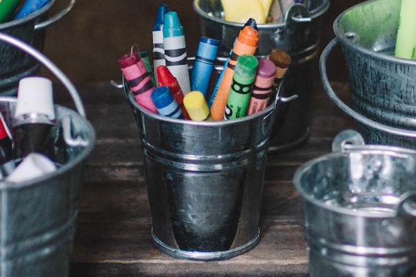 crayon storage idea size wee pail