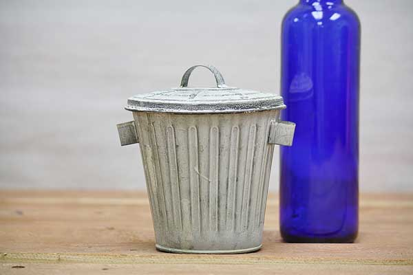 Galvanized Mini Trash Cans