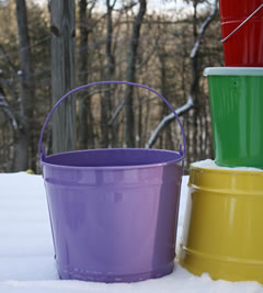 Solid Color Decorative Pails Bucket Outlet