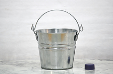 small galvanized hot dipped bucket