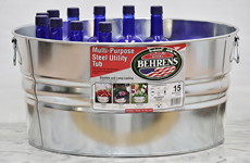 Metal beverage tub