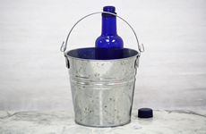 2 Quart Galvanized Bucket with top mounted handle