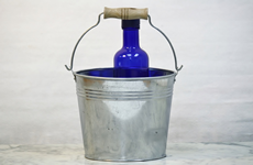 3 Quart Tin Bucket with wood grip