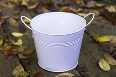 White Small metall pail