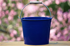 royal blue decorative pail