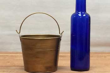 Brass Small Flower Bucket