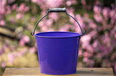 purple pail for decor