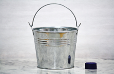 Galvanized Small Flower Bucket