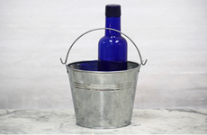 Galvanized Flower Bucket