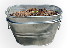 Galvanized Garden Tub 1 Gallon