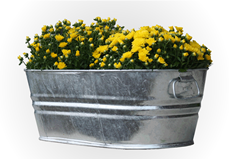 Galvanized Garden Tub 5.5 Gallon
