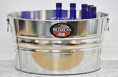 large metal beverage tub