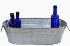 Large Silver Party Tub