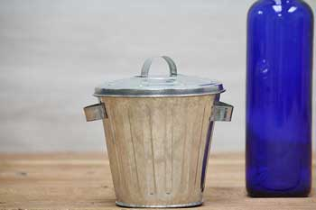 Tiny Galvanized Trash Can
