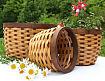 Woodchip and Bamboo Basket Planter Set