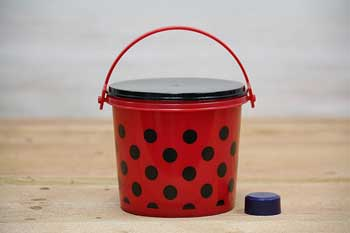 Plastic Lady Bug Pail with Lid