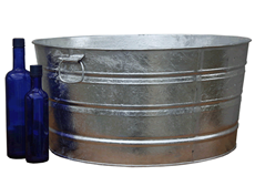 Round Galvanized Tub 17 Gallon
