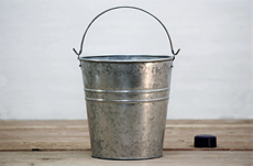 Acid washed metal pail
