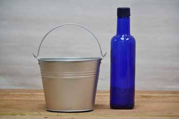 1.5 Quart Silver Decoration Pails