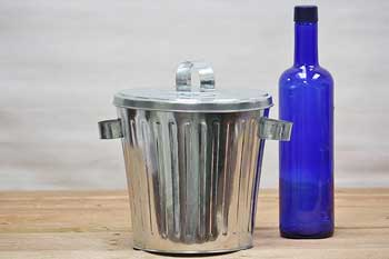 Small Galvanized Trash Can