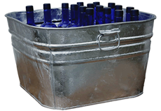 Large Square Galvanized Tub