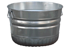 1 Bushel Steel Tub