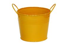 yellow decor pail
