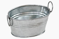 small galvanized metal tub for crafts